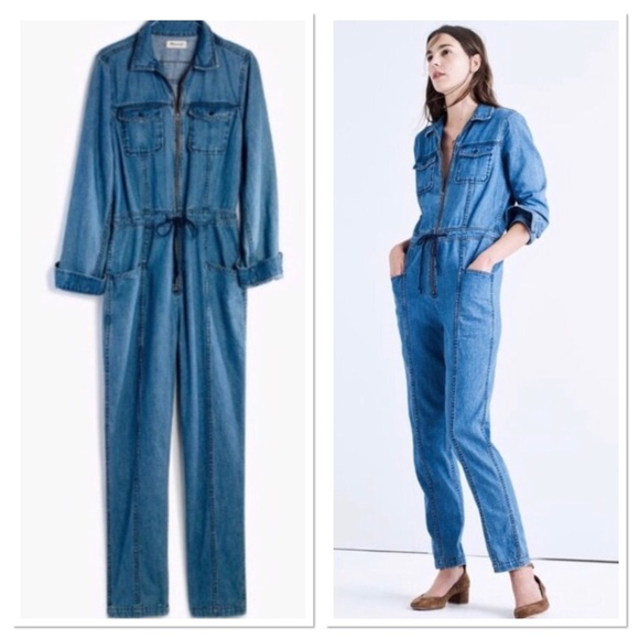 351132246ba NWT Madewell X Goop Denim Coveralls Size Large